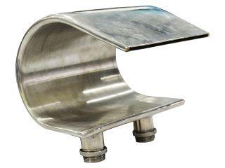 Cascata em Aço Inox para Banheira e Spa Hidro 1 (Curva)  - Pooltec