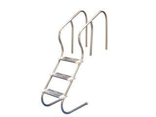 Escada Confort 1 1/2` 03 Degraus Aço Inox  - Sodramar