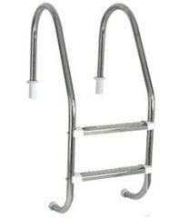 Escada Aço Inox Tradicional 2 Degraus Aço Inox 1 1/2` - Sodramar