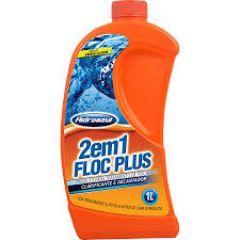 Floc Plus 2 X 1  1 Litro - Hidroazul