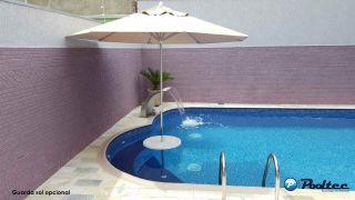 Mesa Em Fibra para piscina com Tubo em Inox   - Pooltec