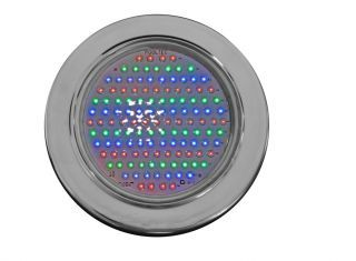 Refletor Steel Led para piscina Rosca 1/2 125 leds RGB  - Pooltec