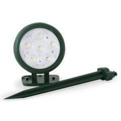Spot Bivolt Corpo Verde  Iluminação Branco Frio  - Pooltec