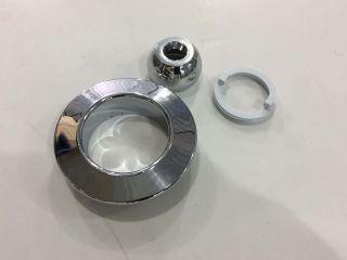 Conjunto Frontal Dispositivo Hidro Cromado   - Solarplast