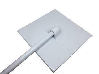 Ducha Cascata em Alumínio Branco Quadrada 10` (25 cm.) Cano 3/4` - Pooltec