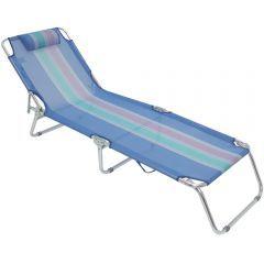 Cadeira Espreguicadeira  Azul  - Mor
