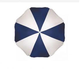 Guarda Sol Poliester Azul marinho e Branco 1,80 M. (3720) - Mor