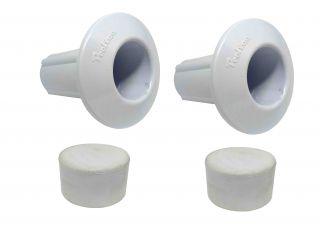Kit Chumbador e Borracha de Encosto Para Escada 1 1/2` (38 mm)  - Pooltec