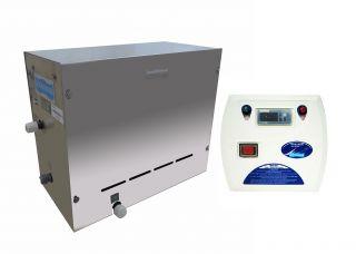 Sauna Vapor Steam Inox com Quadro Digital B 12 KW  - Sodramar