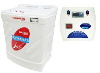 Sauna Gerador Vapor Compact Line Inox com Quadro Digital 6 Kw (6 M³)  - Sodramar