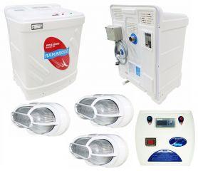 Sauna Vapor + Quadro Digital + 3 Luminárias 15 KW  - Sodramar