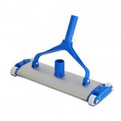 Aspirador Alumínio  04 Rodas  Com Escova 34 cm.  - Pooltec(I)