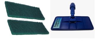 Suporte Limpa Bordas com 2 Fibras Uso Geral  - Pooltec